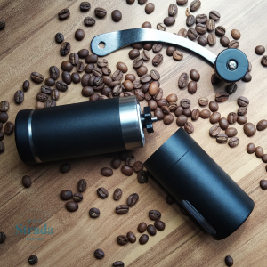 ISHOWTIENDA Manual Coffee Grinder - Black